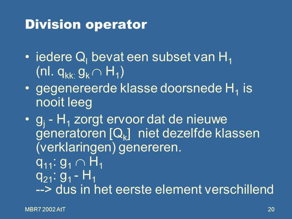 MBR7 2002 AtT20 Division operator iedere Q I bevat een subset van H 1 (nl.