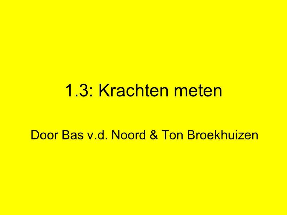 1.3: Krachten meten Door Bas v.d. Noord & Ton Broekhuizen