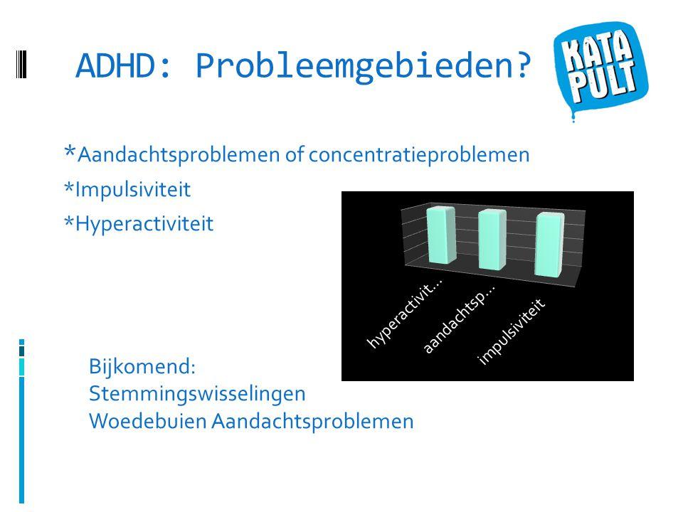 ADHD: Probleemgebieden.
