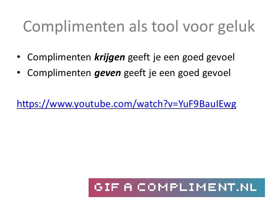 Complimenten als tool voor geluk Complimenten krijgen geeft je een goed gevoel Complimenten geven geeft je een goed gevoel https://www.youtube.com/wat