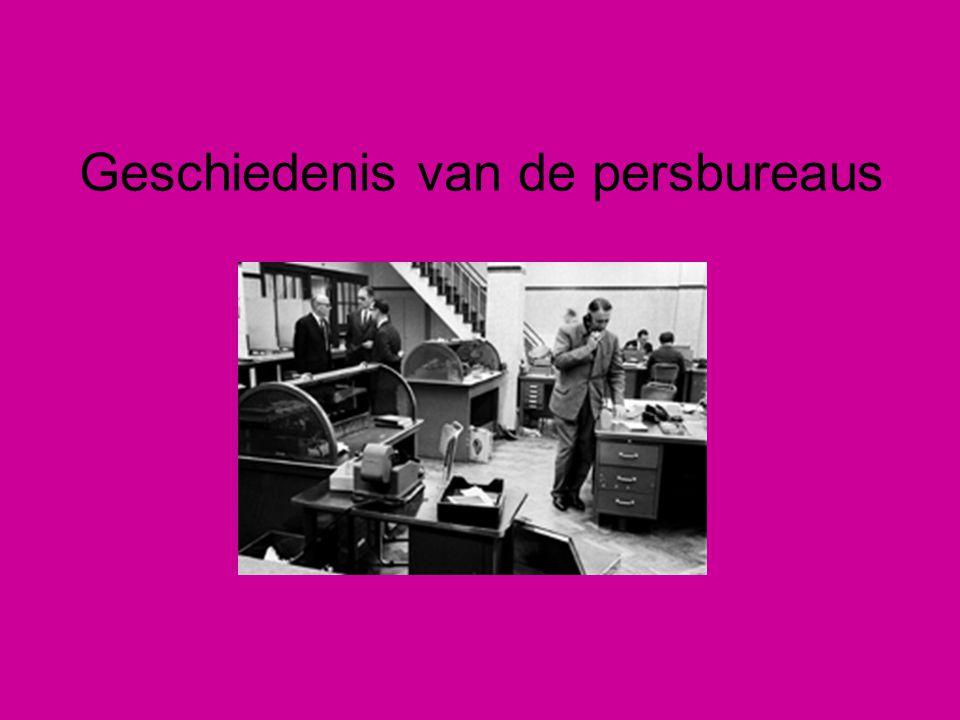 Geschiedenis van de persbureaus