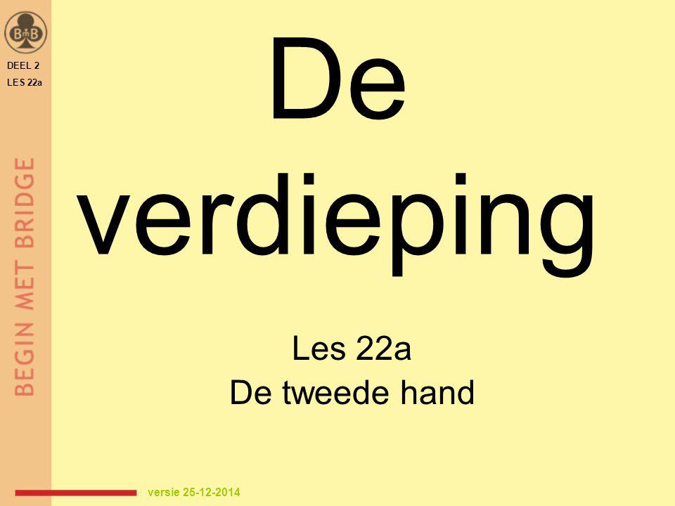 De verdieping Les 22a De tweede hand DEEL 2 LES 22a versie 25-12-2014
