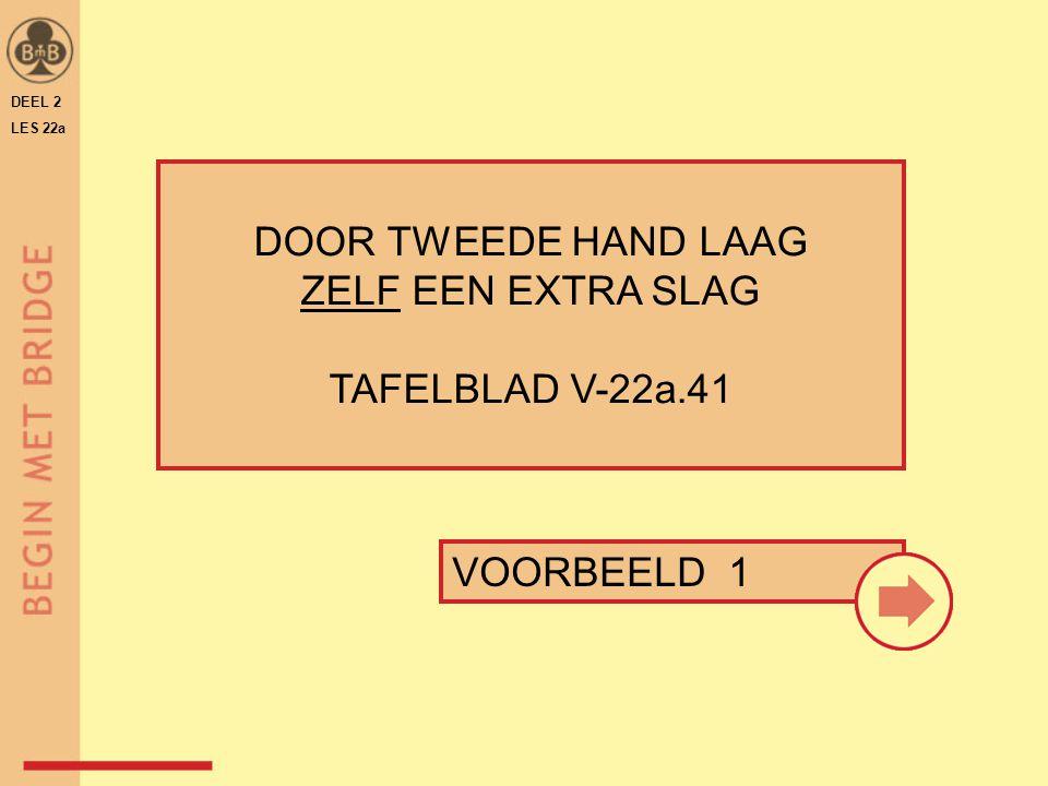 DEEL 2 LES 22a DOOR TWEEDE HAND LAAG ZELF EEN EXTRA SLAG TAFELBLAD V-22a.41 VOORBEELD 1