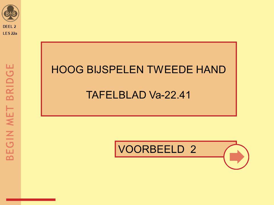 DEEL 2 LES 22a HOOG BIJSPELEN TWEEDE HAND TAFELBLAD Va-22.41 VOORBEELD 2