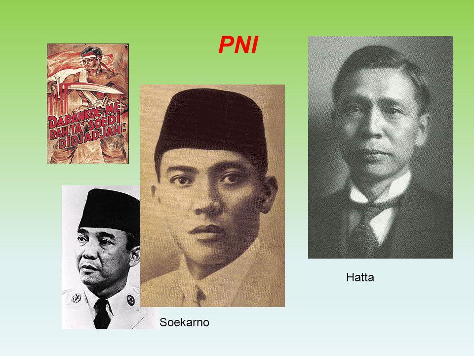 In Nederlands-Indië waren het ook studenten die het voortouw namen –Soekarno student aan de TH in Bandoeng richtte een studieclub met nationalistische ideeën op in 1927 richtte hij tevens de PNI op was een groot redenaar en zorgde voor een grote aanhang Ontstaan Partai Nasional Indonesia