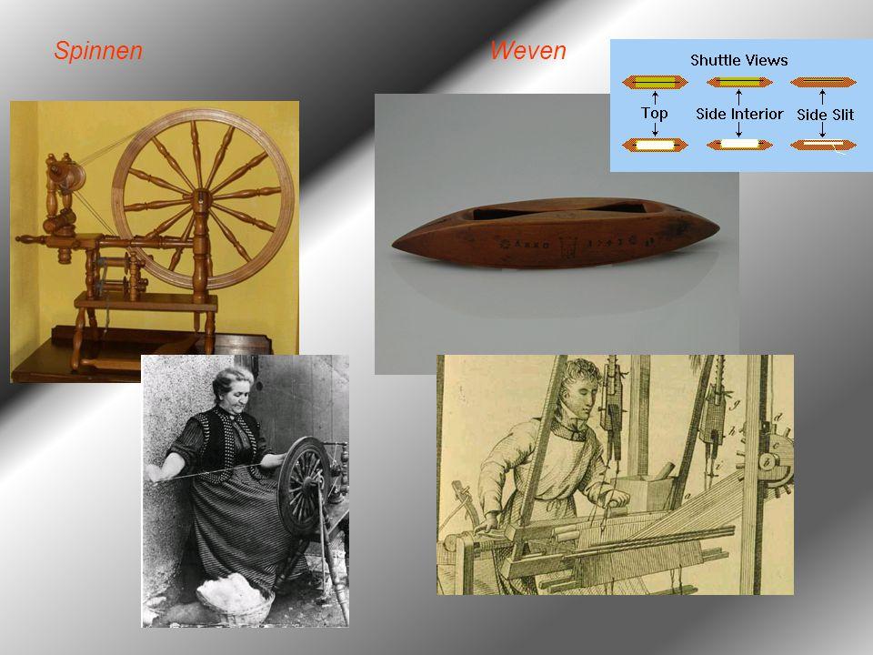 Spinning Jenny James Hargreaves vindt een machine (engine = jenny) uit die meerdere draden tegelijk kan spinnen: Spinning Jenny (1764) –Dankzij deze uitvinding kan er beter aan de vraag naar garen worden voldaan