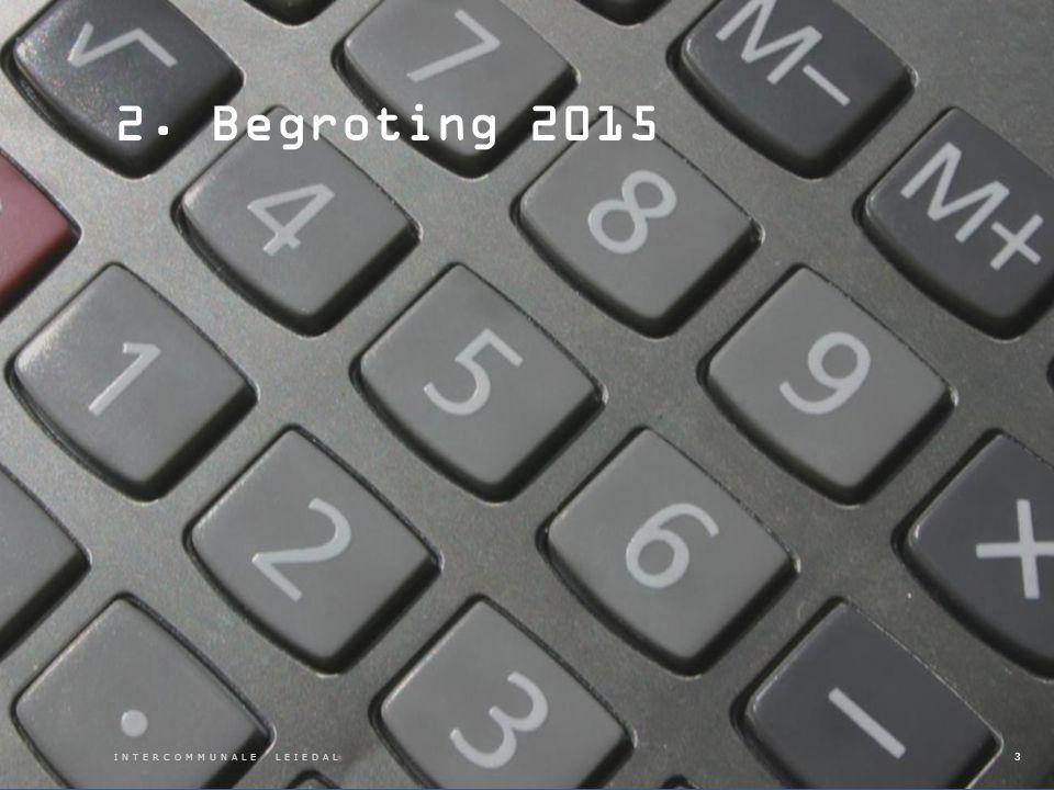 INTERCOMMUNALE LEIEDAL 2. Begroting 2015 3