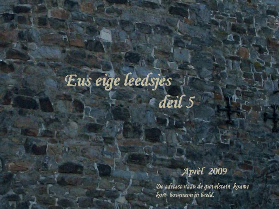 Eus eige leedsjes deil 5 deil 5 Aprèl 2009 De adresse vaan de gievelstein koume kort bovenaon in beeld.