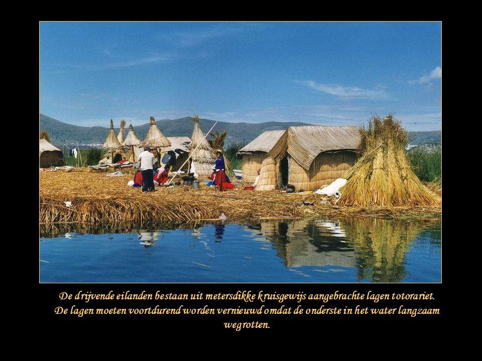 Oorspronkelijk begonnen de Uro's drijvende eilanden te bouwen om zich bijvoorbeeld tegen de krijgszuchtige Inca's te beschermen en te verbergen. Telke