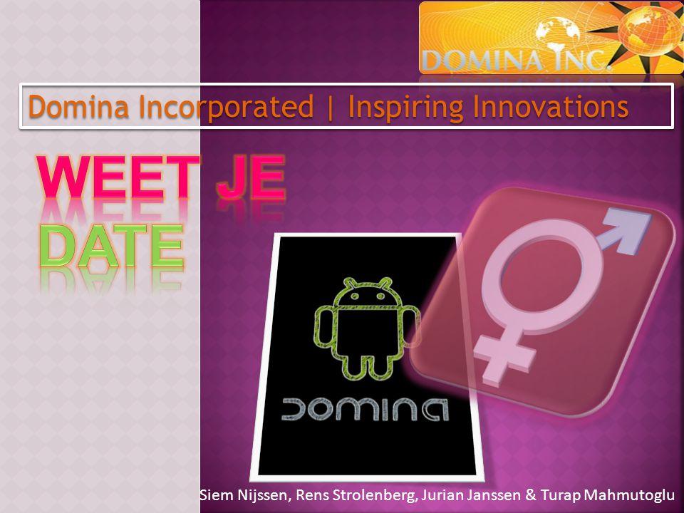 Siem Nijssen, Rens Strolenberg, Jurian Janssen & Turap Mahmutoglu Domina Incorporated   Inspiring Innovations