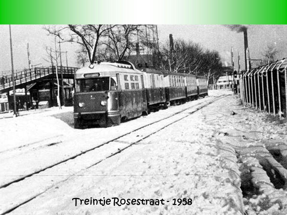 Treintje Rosestraat - 1958