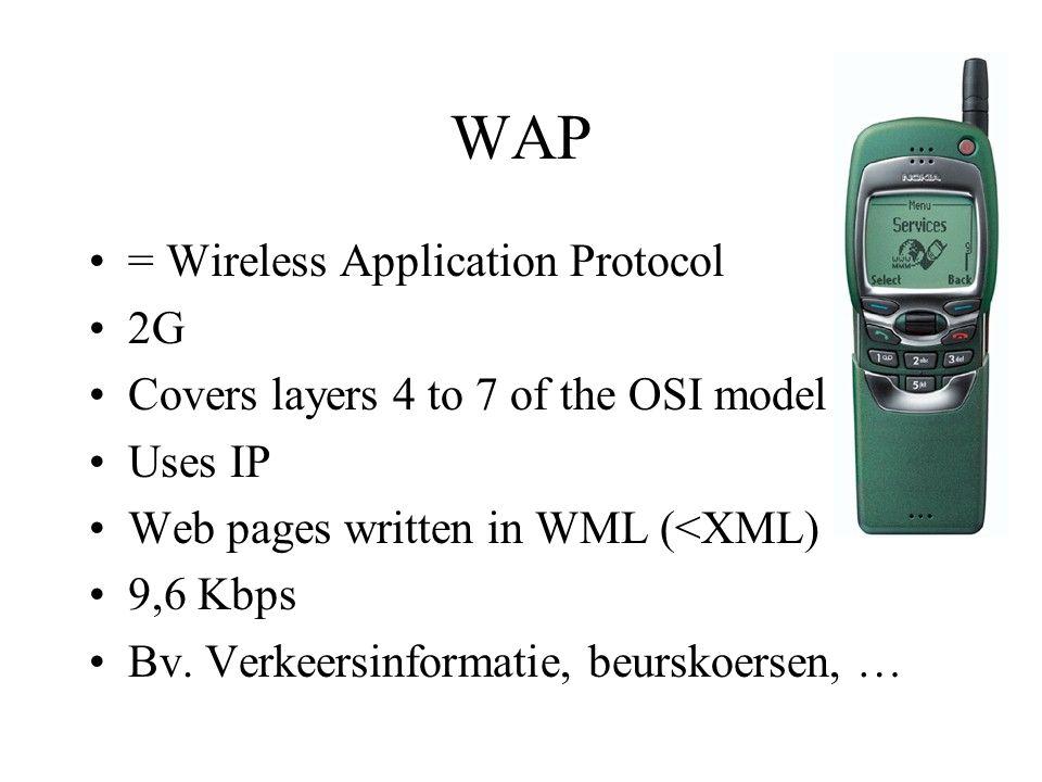 GPRS General Packet Radio Service 2,5 G max.