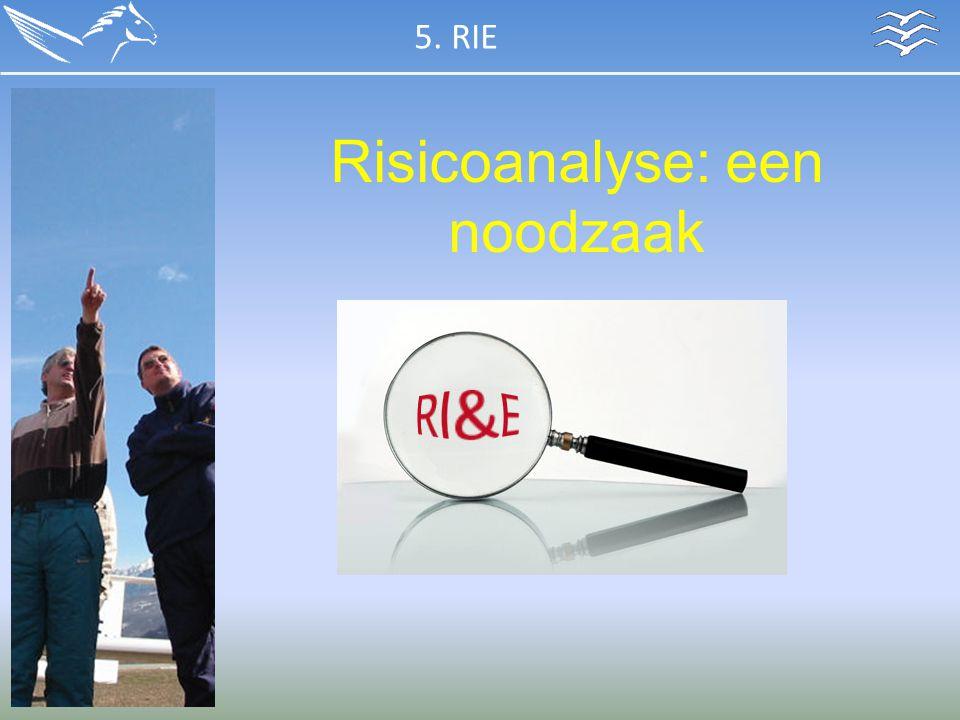 Risicoanalyse: een noodzaak 5. RIE