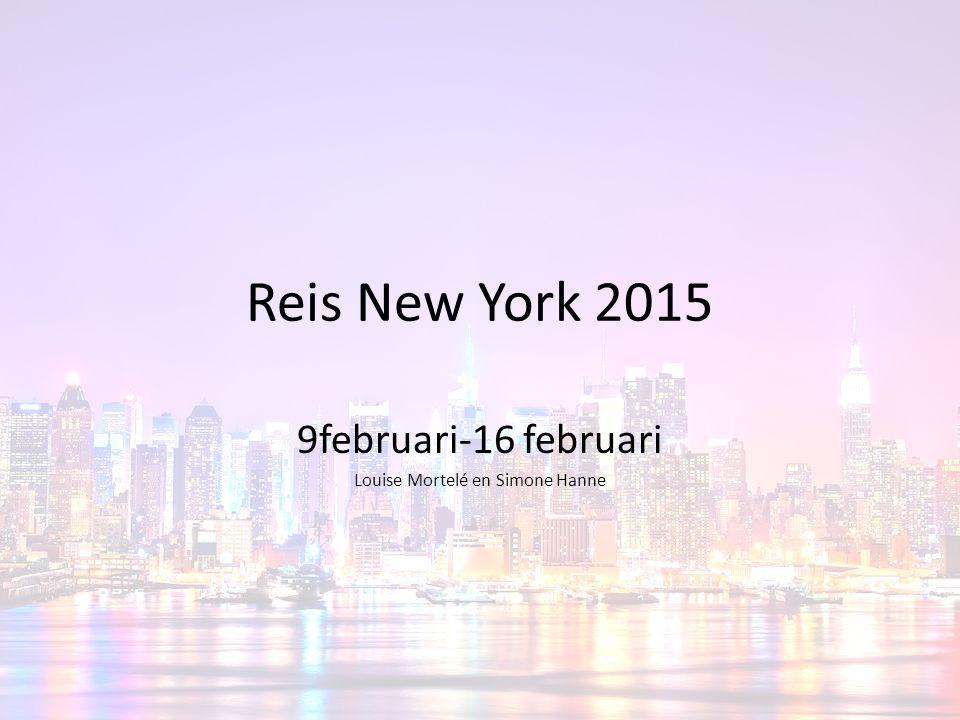 Aankomst terug in België Vertrek in New York: 19:25u Aankomst in België: dinsdag 17 februari 12:26u Vliegtijd: 11u 1 minuut