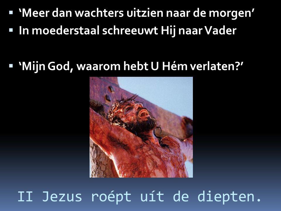 II Jezus roépt uít de diepten.