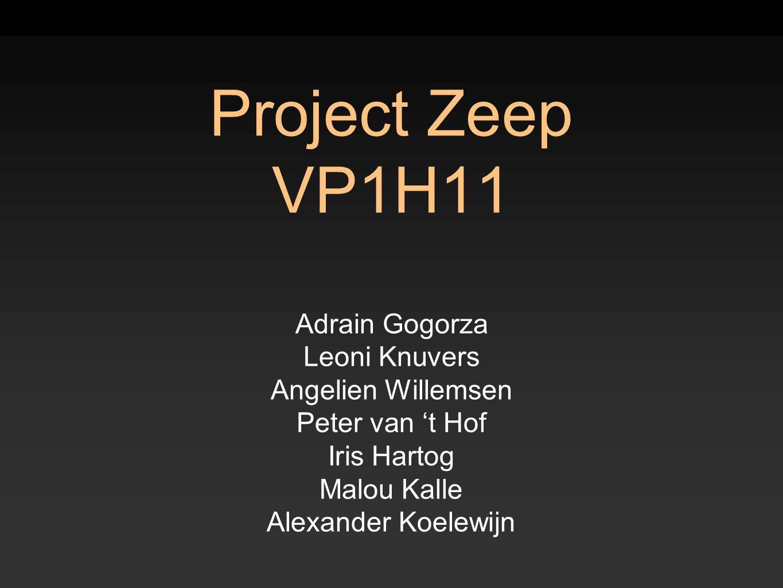 Project Zeep VP1H11 Adrain Gogorza Leoni Knuvers Angelien Willemsen Peter van 't Hof Iris Hartog Malou Kalle Alexander Koelewijn