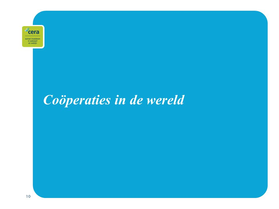10 Coöperaties in de wereld