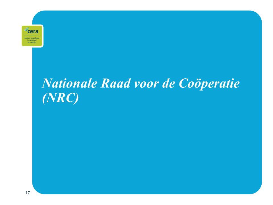 17 Nationale Raad voor de Coöperatie (NRC)