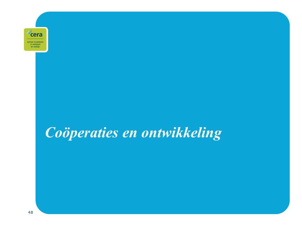 48 Coöperaties en ontwikkeling