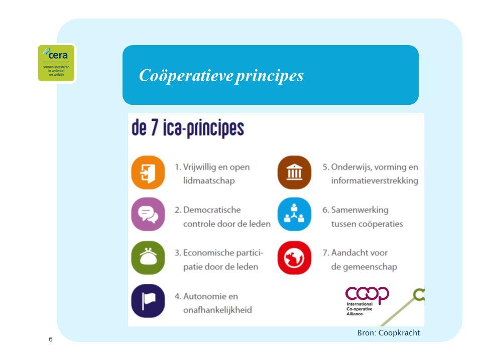 6 Coöperatieve principes Bron: Coopkracht