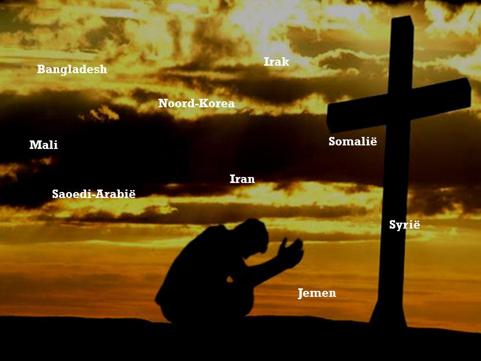 Bangladesh Noord-Korea Somalië Mali Jemen Irak Saoedi-Arabië Iran Syrië