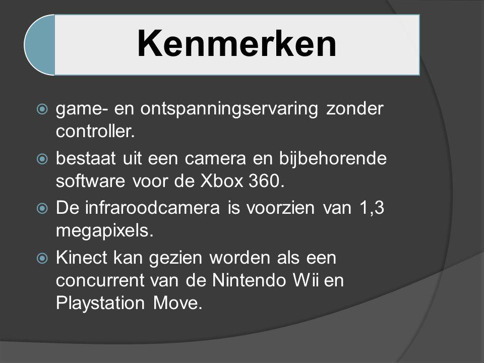 Kenmerken  game- en ontspanningservaring zonder controller.