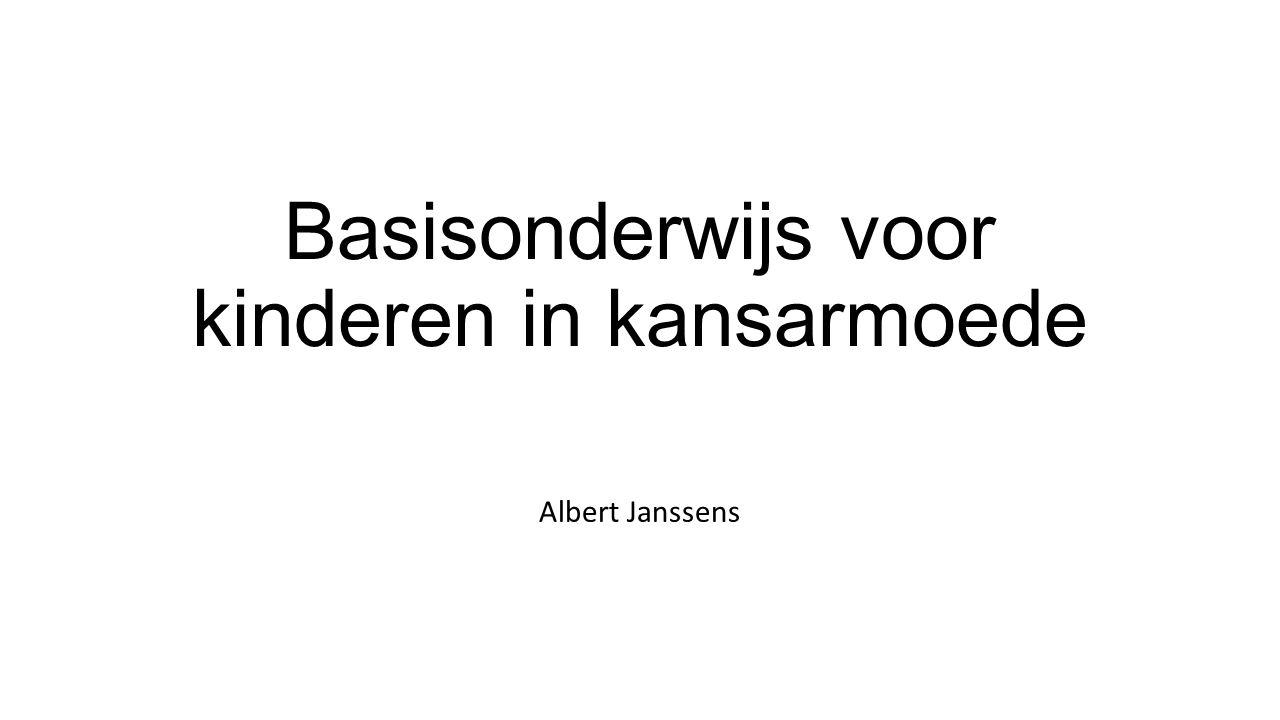 Basisonderwijs voor kinderen in kansarmoede Albert Janssens