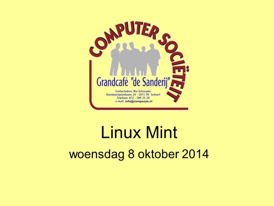 Linux Mint woensdag 8 oktober 2014
