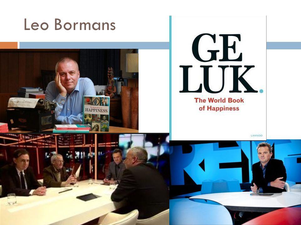  Laten we eens twee minuten zwijgen, stelde Leo Bormans, auteur van de internationale bestseller Geluk.