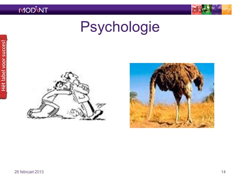 Psychologie 26 februari 201514