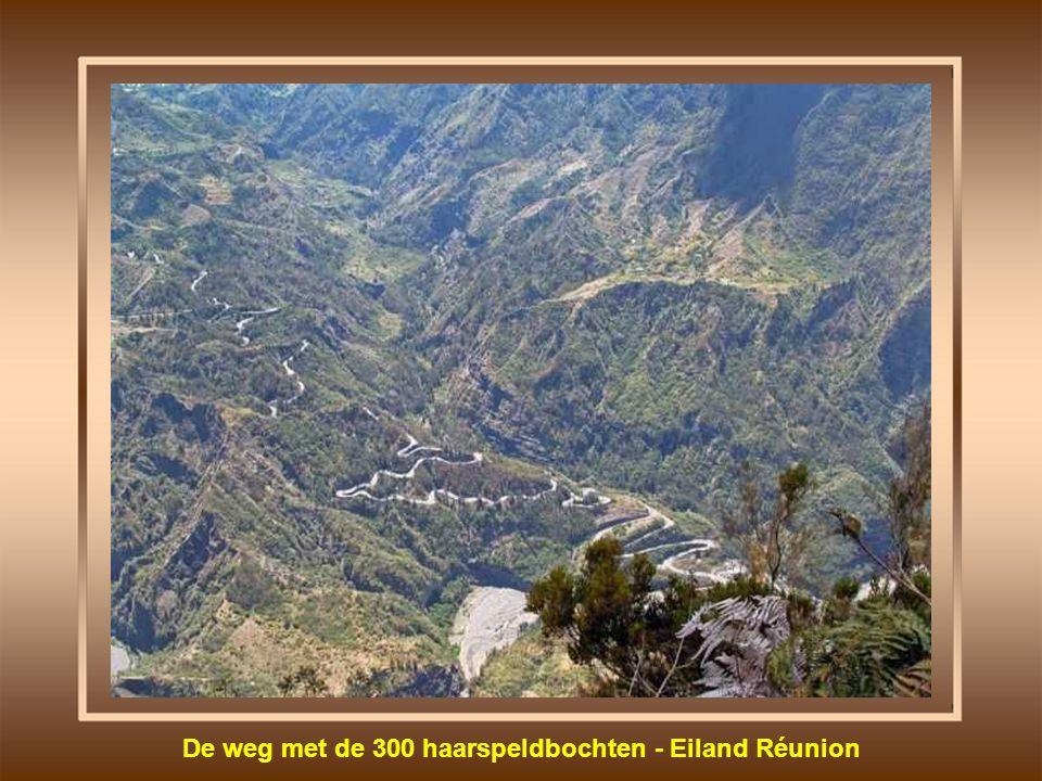 De weg met de 300 haarspeldbochten - Eiland Réunion