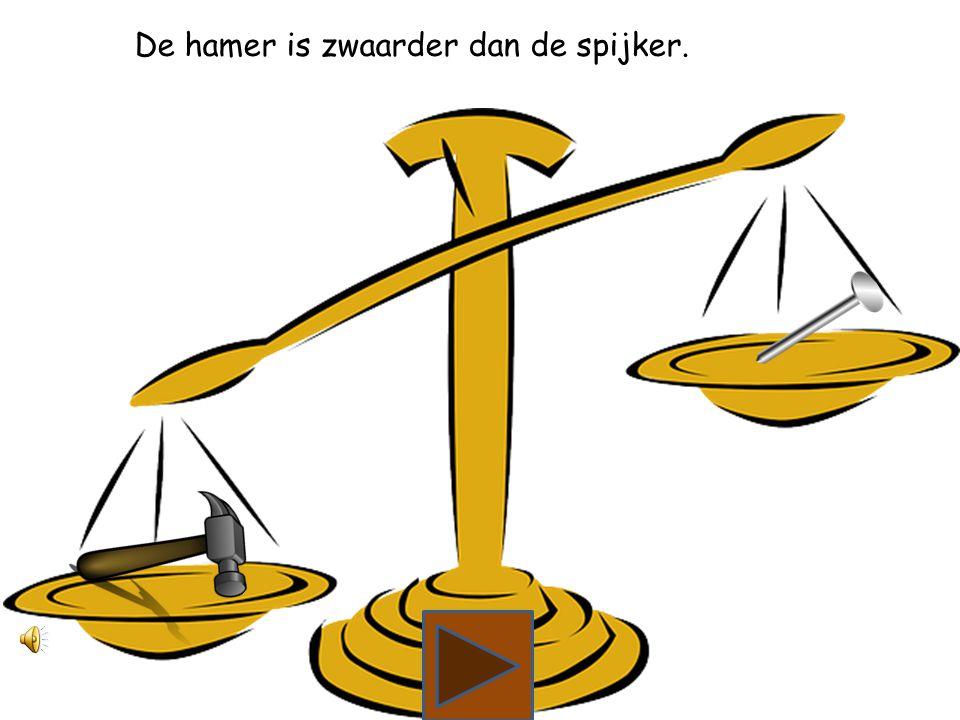 Wat is zwaarder, de hamer of de spijker?
