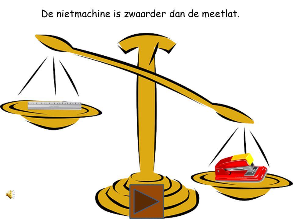 Wat is zwaarder, een meetlat of een nietmachine?