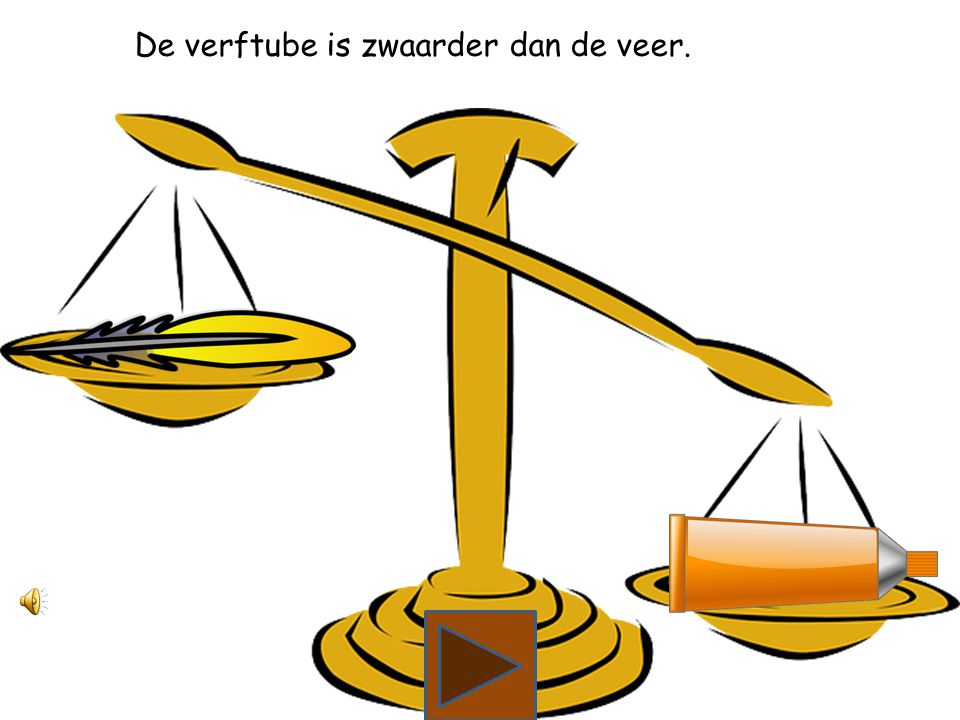 Wat is zwaarder, de veer of de verftube?