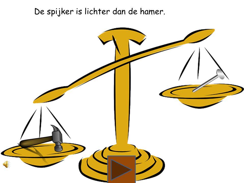 Wat is lichter, de hamer of de spijker?