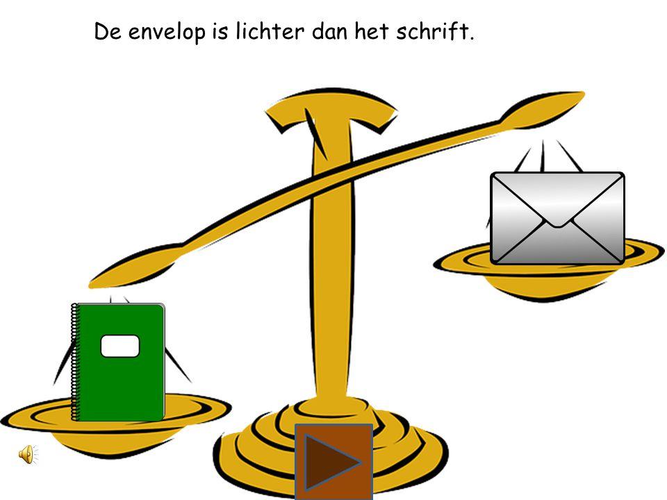 Wat is lichter, het schrift of de envelop?