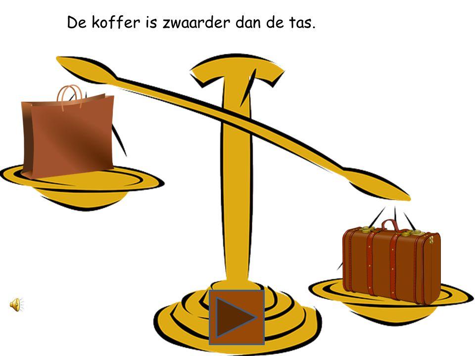 Wat is zwaarder, de tas of de koffer?