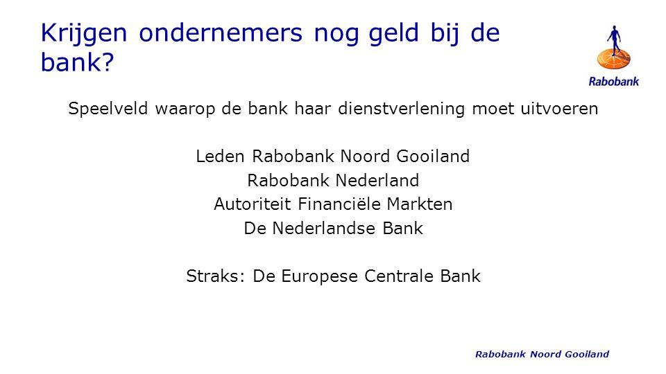 Krijgen ondernemers nog geld bij de bank.