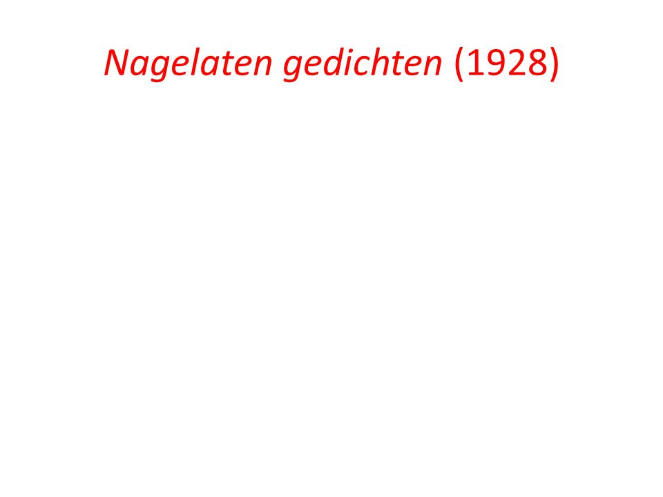 Nagelaten gedichten (1928)