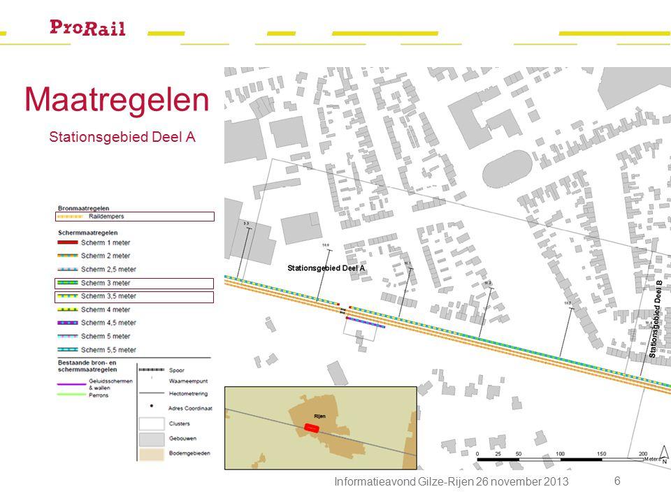 7 Informatieavond Gilze-Rijen 26 november 2013 Stationsgebied Deel B Maatregelen