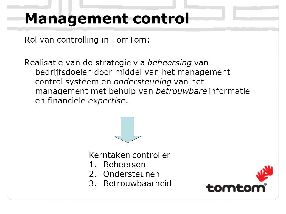 Management control system De Strategie staat centraal
