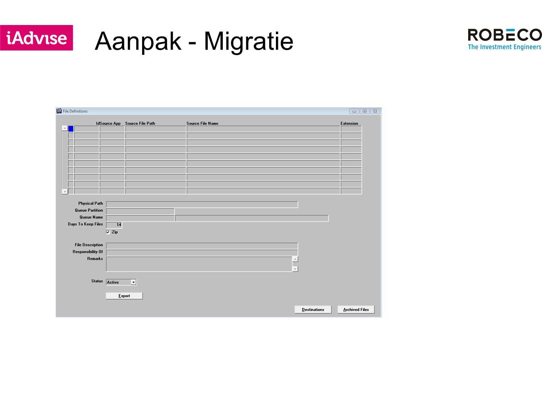 Aanpak - Migratie
