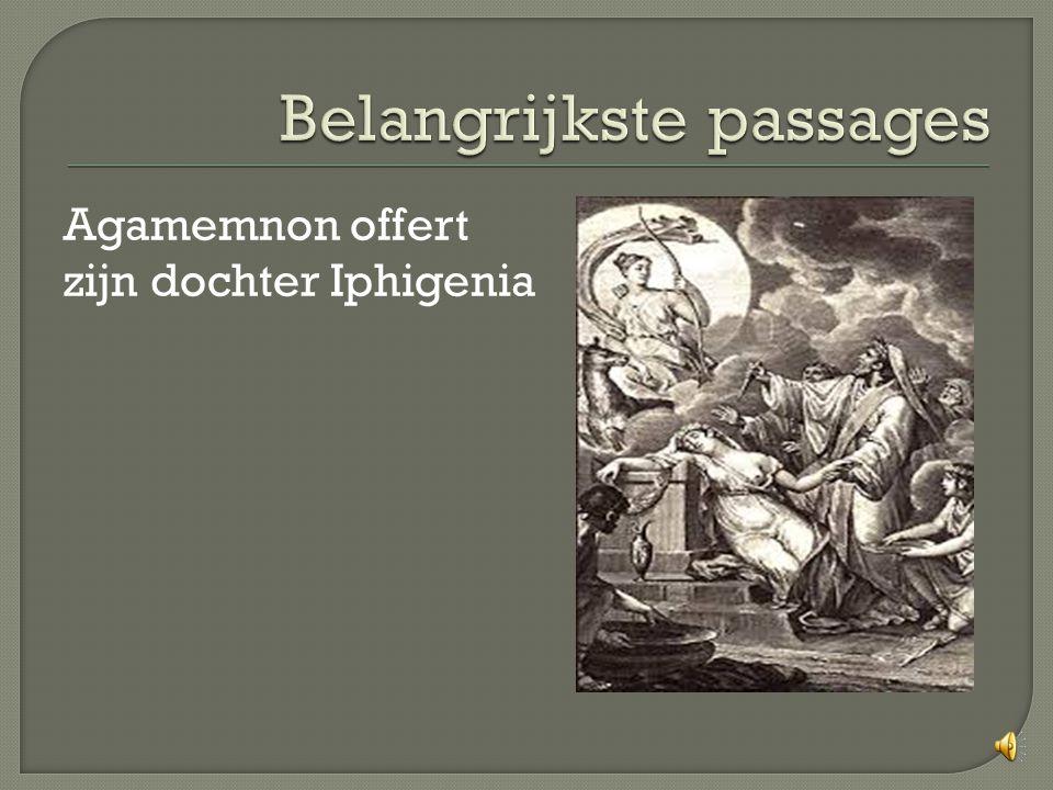 Agamemnon offert zijn dochter Iphigenia