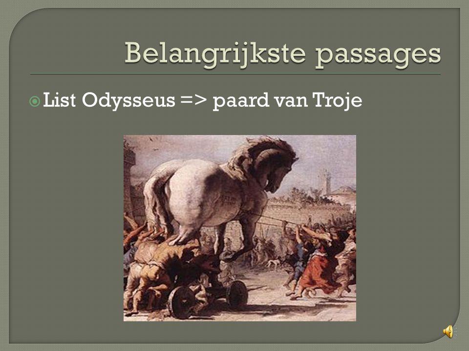  List Odysseus => paard van Troje