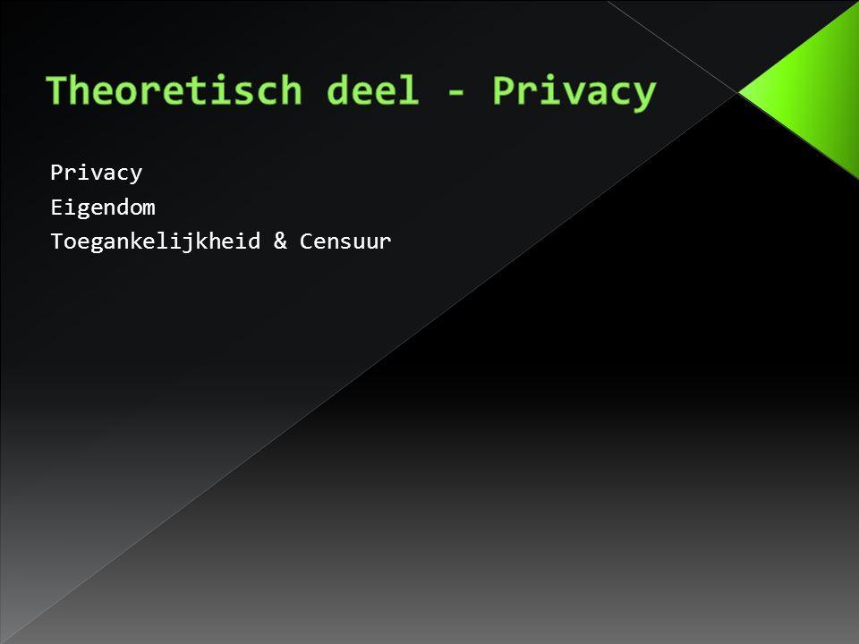 Privacy Eigendom Toegankelijkheid & Censuur
