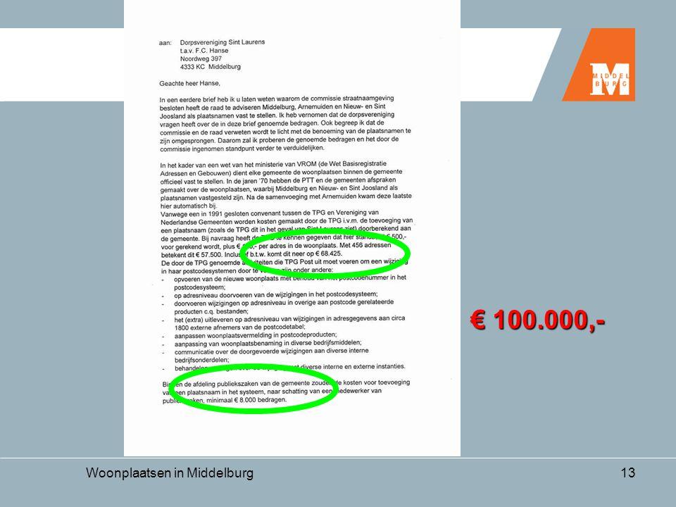 Woonplaatsen in Middelburg13 € 100.000,-