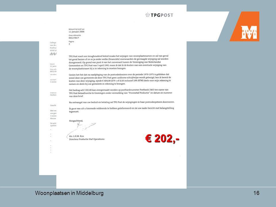 Woonplaatsen in Middelburg16 € 202,-