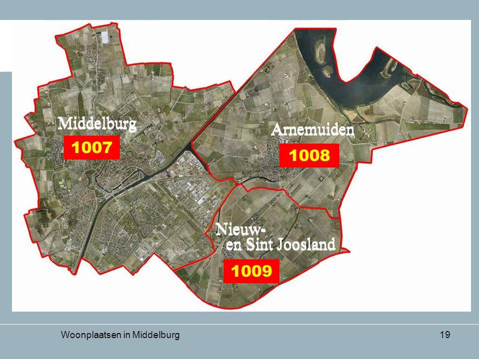 Woonplaatsen in Middelburg19 1007 1008 1009