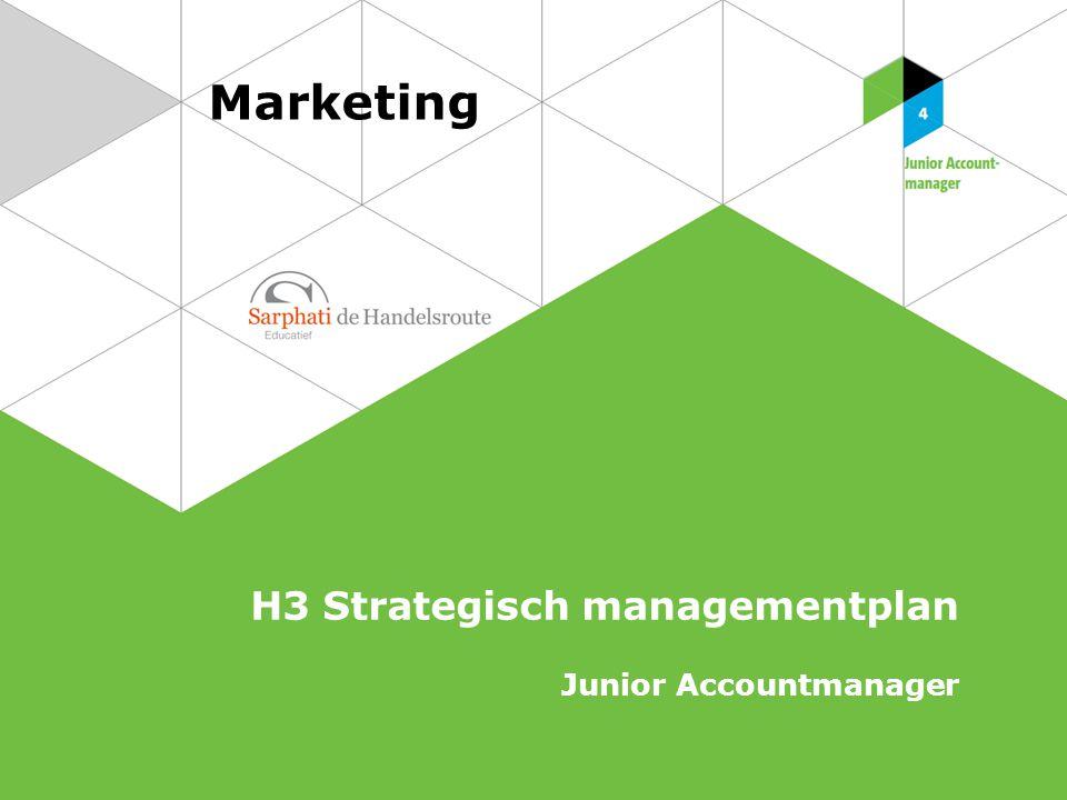 Marketing H3 Strategisch managementplan Junior Accountmanager