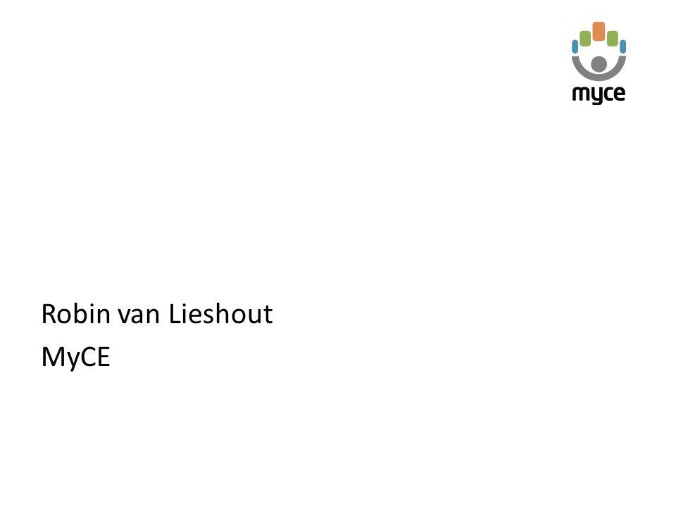 Robin van Lieshout MyCE